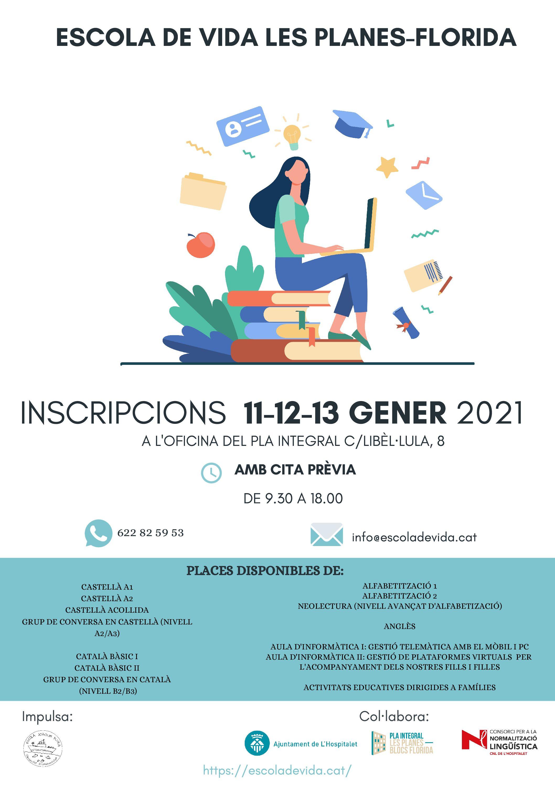 NOVES INSCRIPCIONS CURSOS GENER-MARÇ